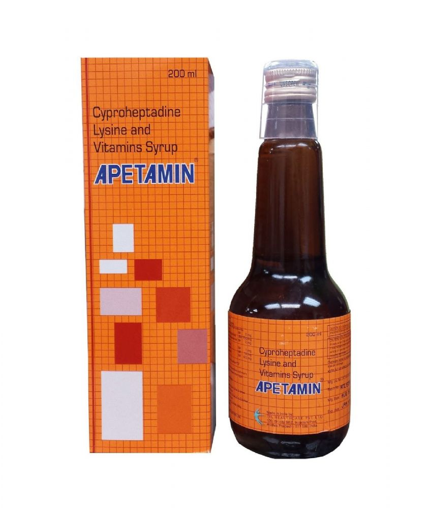 APETAMIN CYPROHEPTADINE LYSINE AND VITAMINS SYRUP FOR APPETITE - 200ml